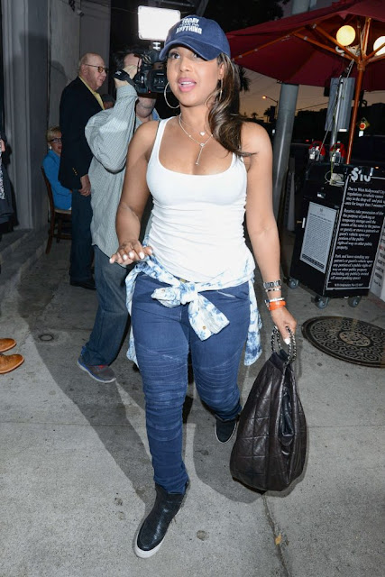 Toni Braxton at Craig's restaurant in West Hollywood