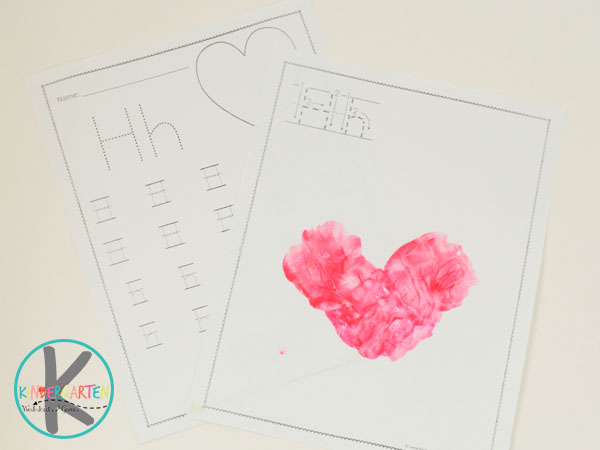 free letter h worksheets for kids