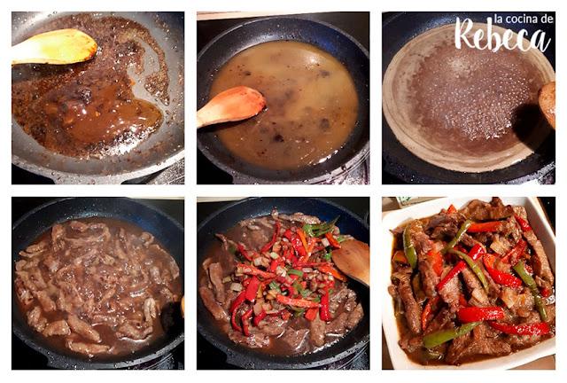Receta de ternera con pimientos al estilo oriental: la salsa (II)