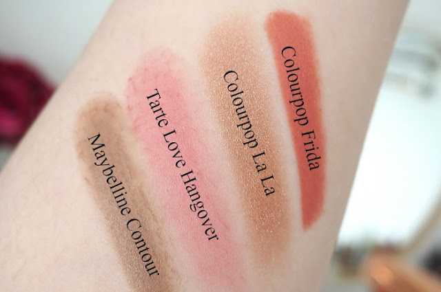 Colourpop makeup swatches