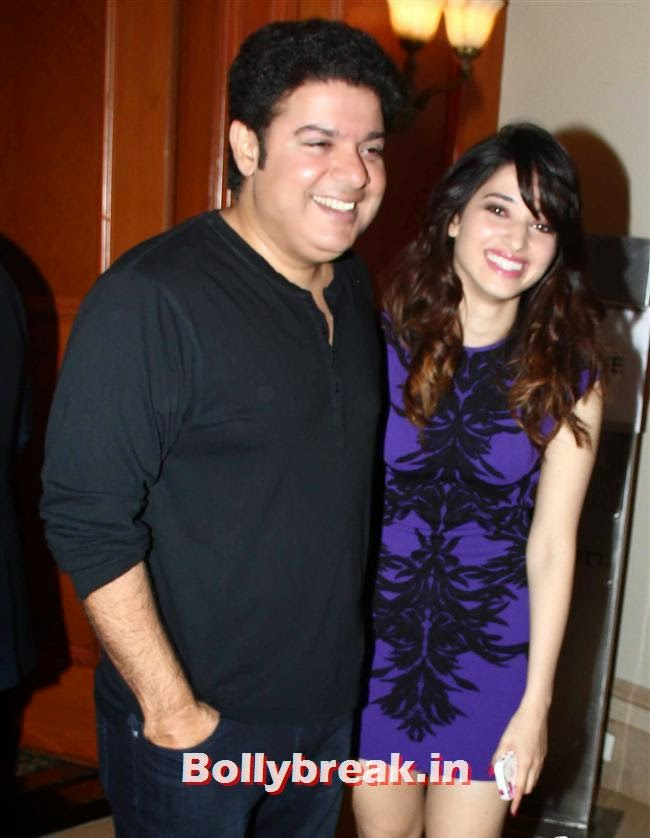 Sajid Khan and Tamanna Bhatia, Vashu Bhagnani's Puja Films 25 Film Completion Party