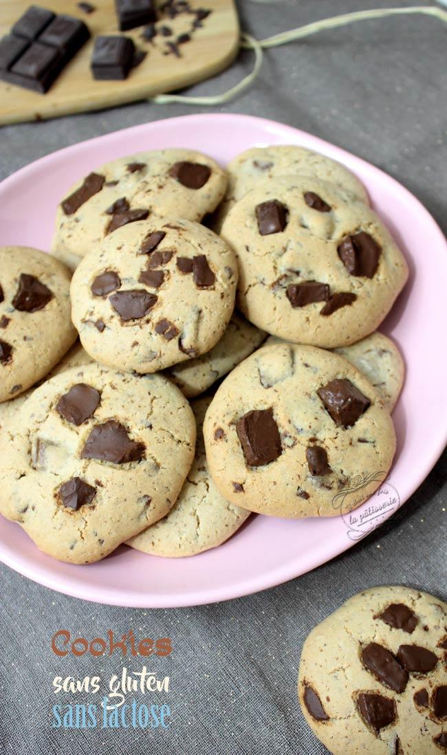 recette cookies sans lactose