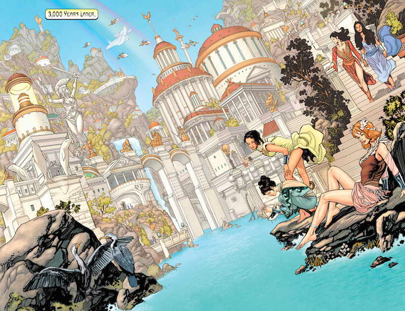Wonder Woman: Earth One, Story: Grant Morrison Art: Yanick Paquette Colors: Nathan Fairbairn Letters: Todd Klein, Wonder Woman created by William Moulton Marston and H.G. Peter.