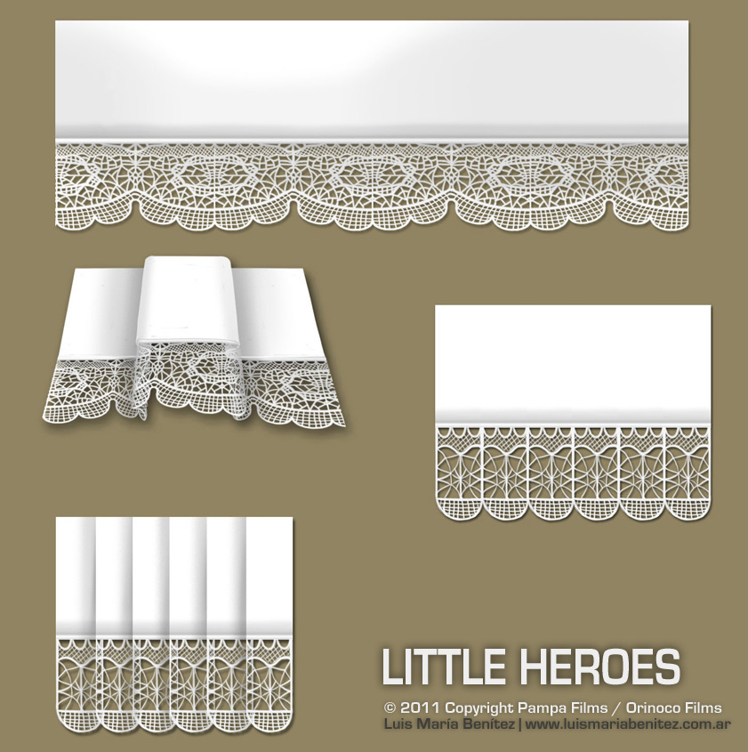 cloth details for Little Heroes / Detalles de vestimenta para personaje © Luis María Benítez
