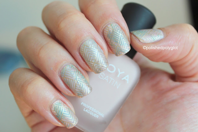 Matte smoosh with stamping nail art