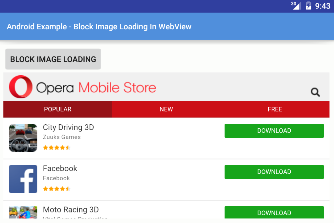 Android How To Block Images Loading In Webview