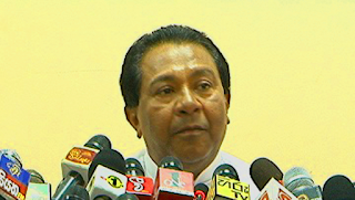 Minister of Higher Education, S.B. Dissanayake~press