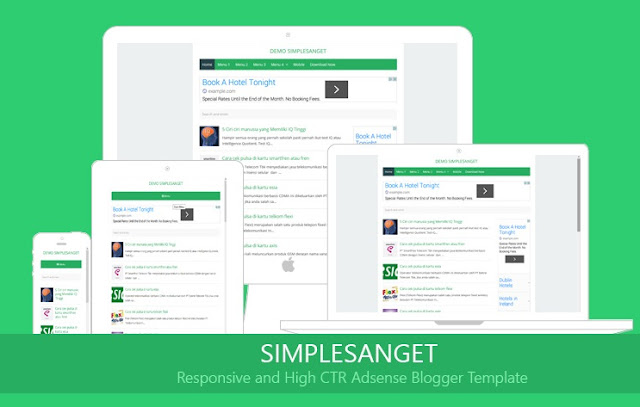Simple Blogger Template High Ctr
