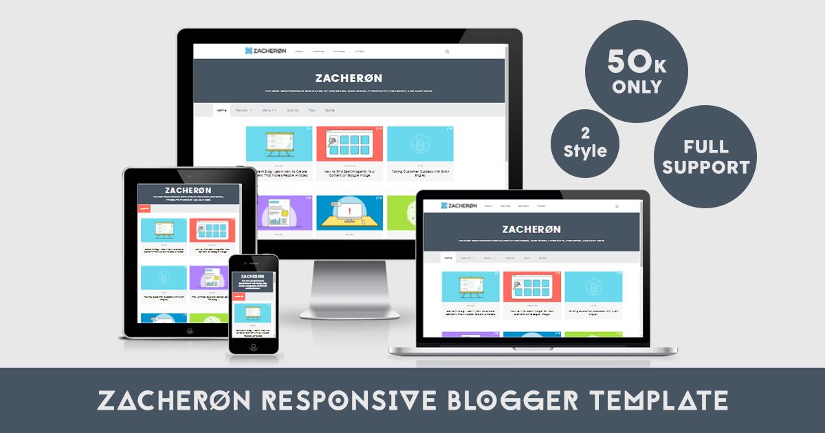 Zacheron Premium Responsive Blogger Template - Afaea