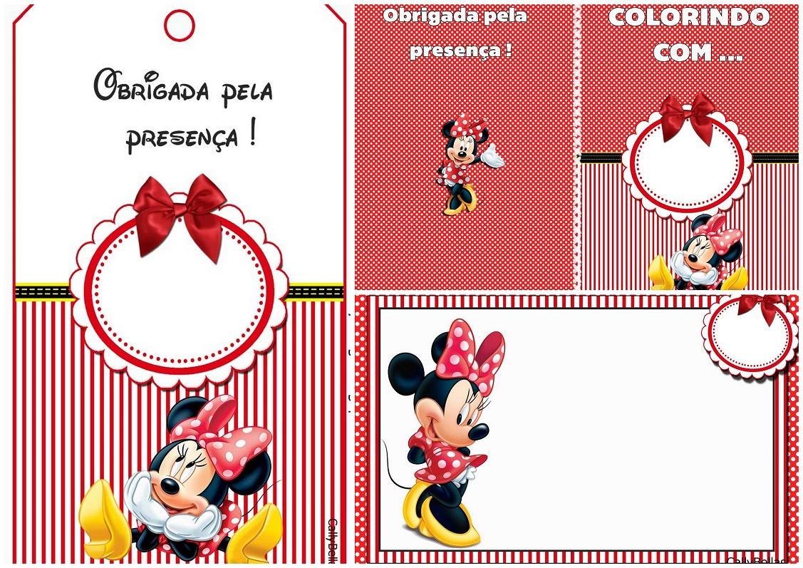 Minnie En Rayas Rojas Invitaciones E Imprimibles Gratis