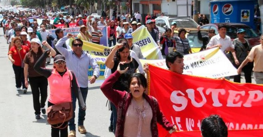SUTEP se movilizará este jueves en Lima en protesta contra el MINEDU