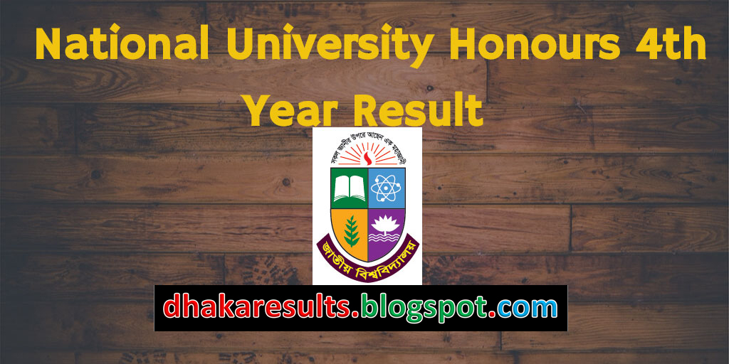National University Honours 4th Year Result 2017