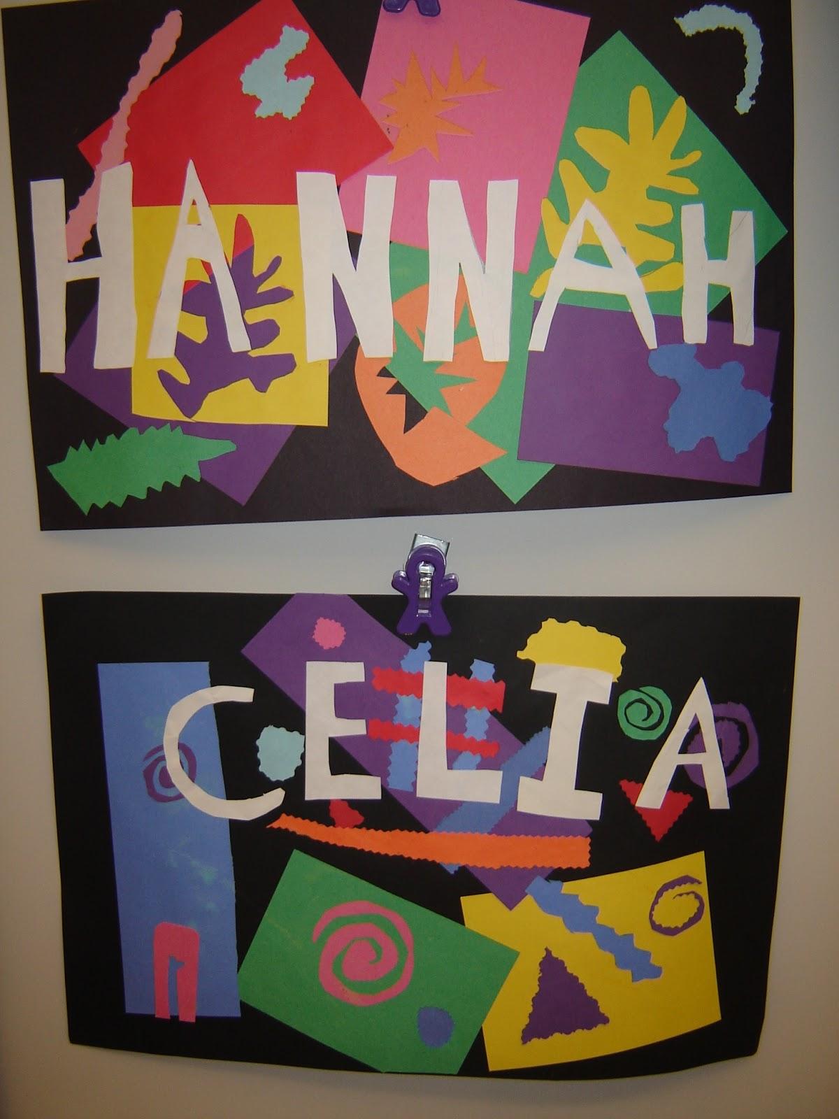Jamestown Elementary Art Blog 3rd Grade Matisse Names