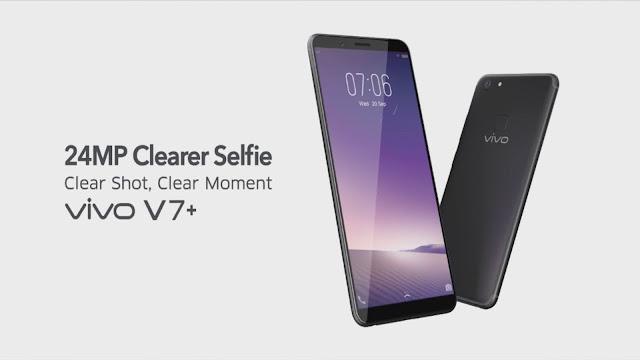 Harga Dan Spesifikasi ViVo V7 Plus Smartphone terbaru