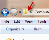 Folder icon of address bar