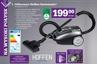 Odkurzacz Hoffen Systematic 800W Biedronka ulotka