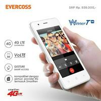 Evercoss Winner T 4G - HP Android 4G Dibawah 1 Juta