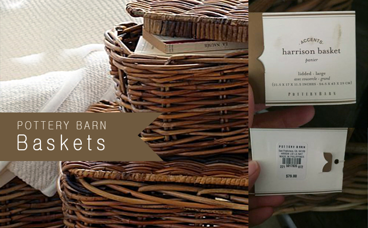 Pottery Barn baskets - 16 Sweet Craigslist Scores