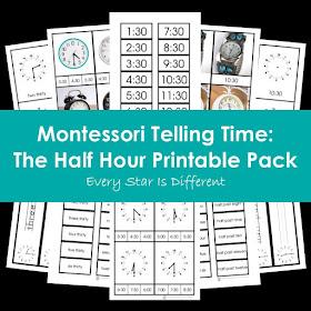 Montessori Telling Time: The Half Hour Printable Pack
