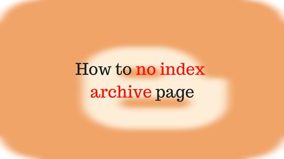 منع ارشفه روابط التسميات و صفحه الارشيف في بلوجر