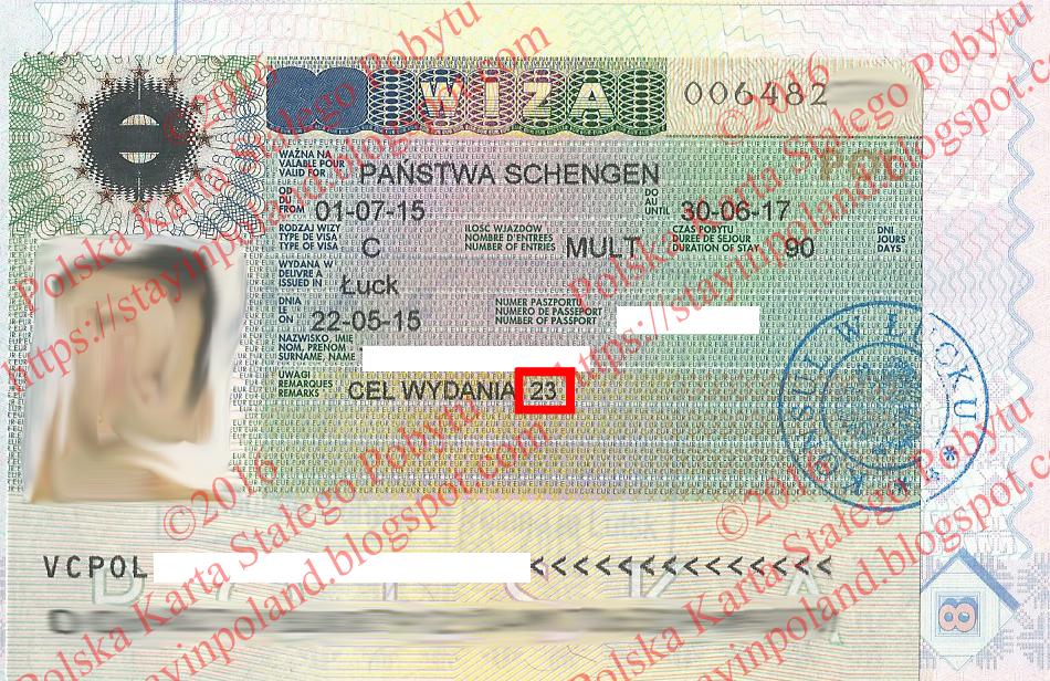 Karta Pobytu, Шенген віза для переселенців
