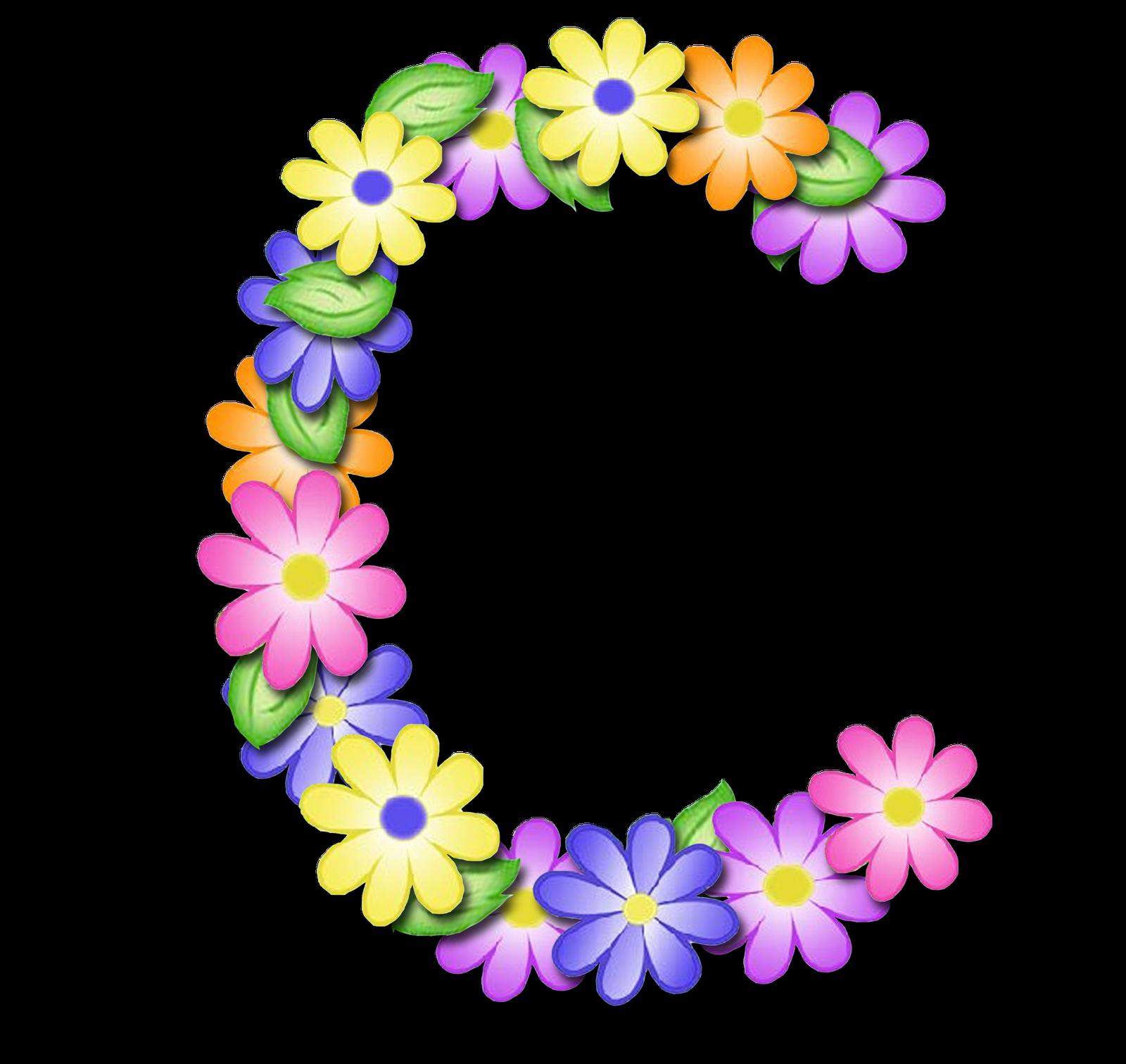 Fuentes De Letras Decoradas Con Flores