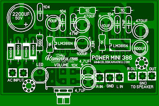 PCB Layout Power Mini amplifire stereo