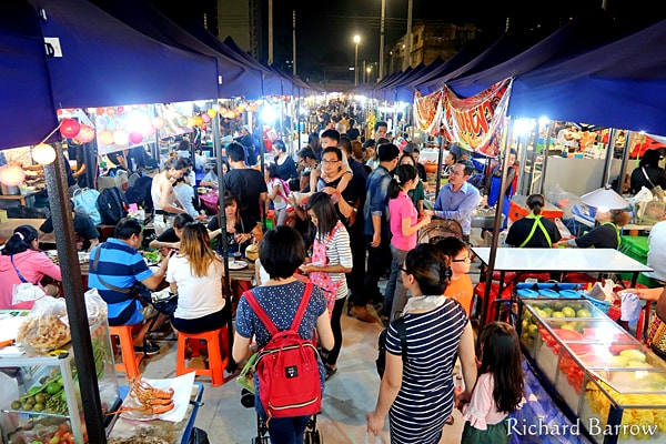 Neon Night Market in Bangkok