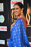 Priya Shree in Beautiful Blue Saree at IIFA Utsavam Awards 2017  Day 2    HD Exclusive Pics 06.JPG