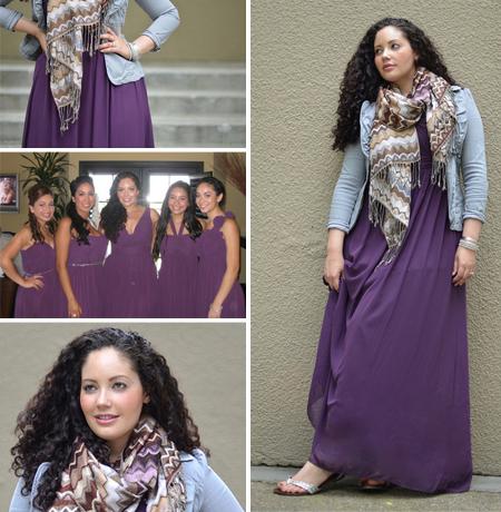 wear again plum long bridesmaid dresses in fall wedding
