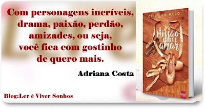 Resenha: A Missão agora é Amar - Cristina Melo