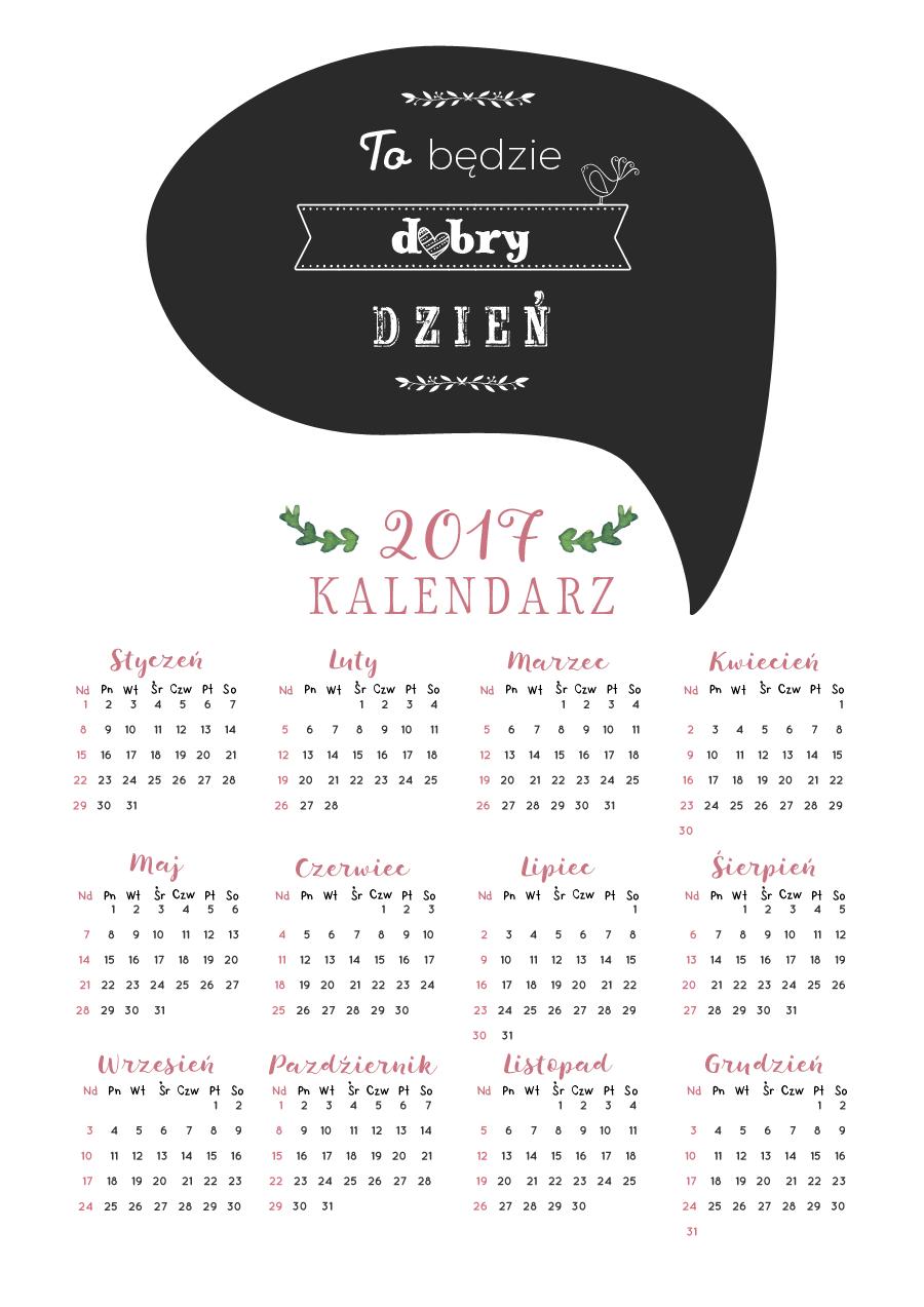 darmowy kalendarz do pobrania na 2017 rok.