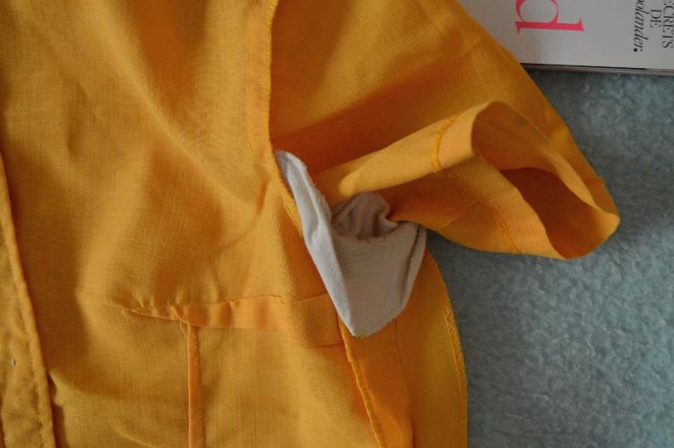 vintage, blouse, construction, sewing, sweat pad, protection, quaintrelle, georgiana quaint