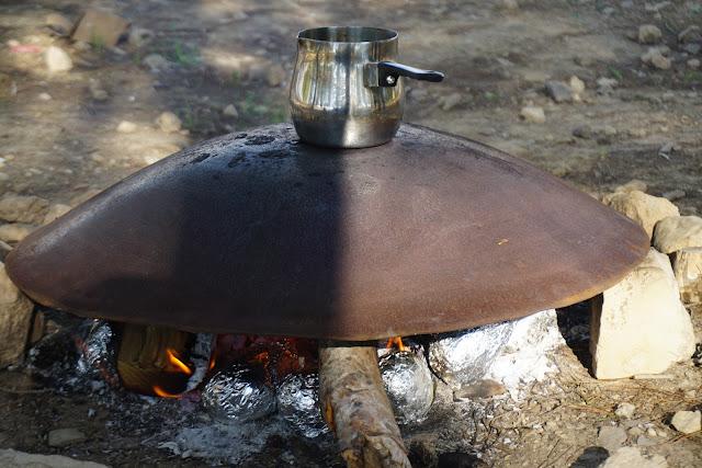 בישול קפה על טאבון