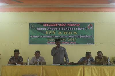 Kemenag Tanjungbalai Gelar RAT KPN ABDA Ke- 31 Tahun Buku 2017