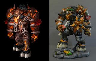modellini creature fantastiche tauren guerriero fantasy con armatura orme magiche