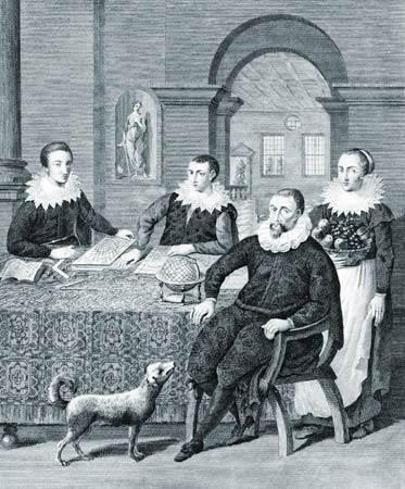 Cristóbal Colón con sus hijos
