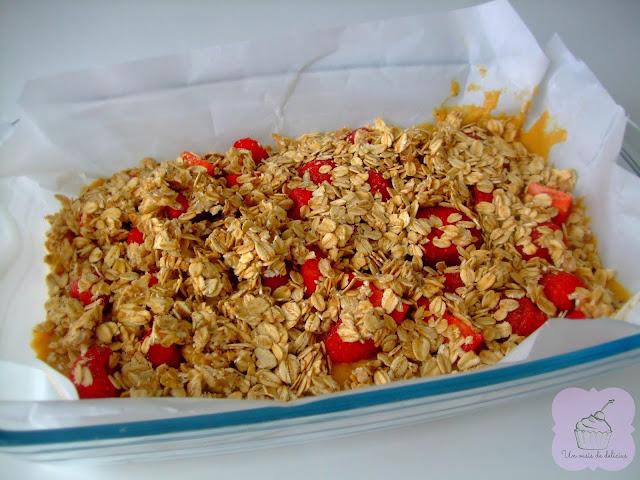 Crumble aux amandes aux fraises et aux framboises, fit, fitness, recette de cuisine, recettes
