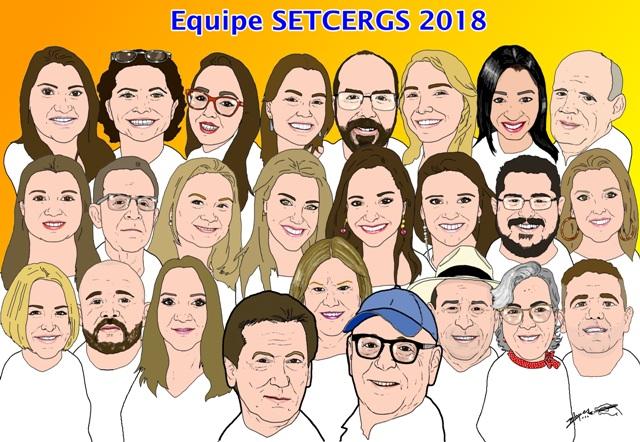 Caricaturas dos colegas de trabalho - Equipe SETCERGS 2018
