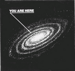 you are here map of spiral galaxy with arrow