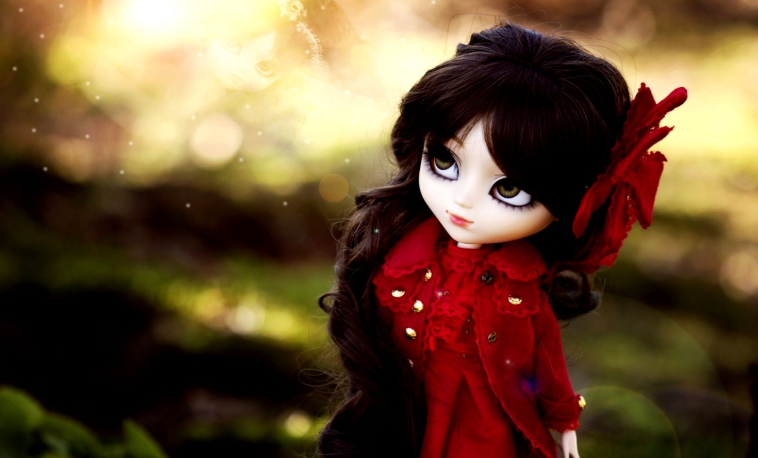 Brunette Girl Doll Hd Wallpaper | Wallpapers Mobile
