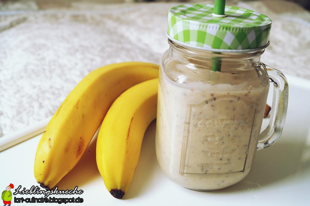 Peanut-Butter-Protein-Shake mit Chia-Samen
