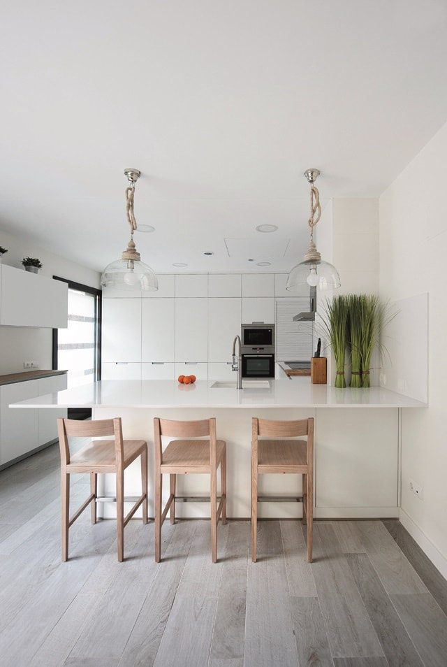 Fusin e individualidad la cocina con pennsula  Cocinas