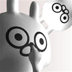 [3D] Three-dimensional rabbit 2!