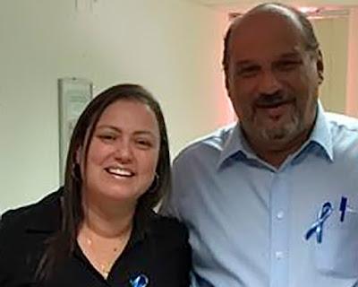 Lorena de Gregório e o ex-prefeito Ailton Cezarino.