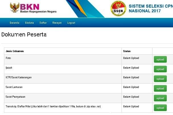 Bentuk File Dokumen Yang Bisa di Upload ke SSCN BKN - List