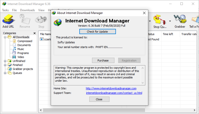 Internet Download Manager 6.36 Build 7