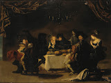 Marry Society by Simon de Vos - Genre Paintings from Hermitage Museum