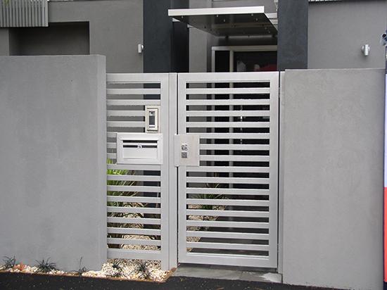 model pintu pagar rumah minimalis