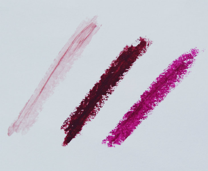 Berry lipstick swatches